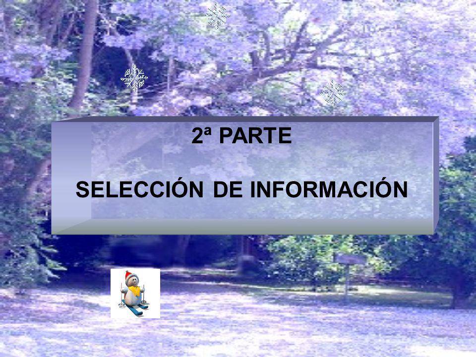 2ª PARTE SELECCIÓN DE INFORMACIÓN