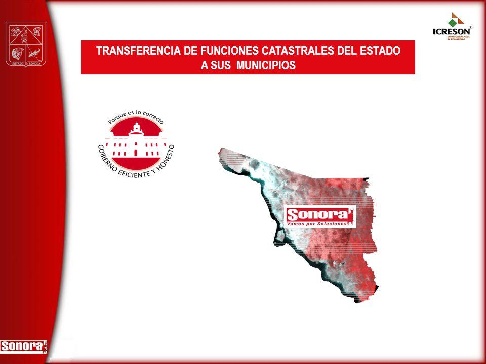 TRANSFERENCIA DE FUNCIONES CATASTRALES DEL ESTADO A SUS MUNICIPIOS