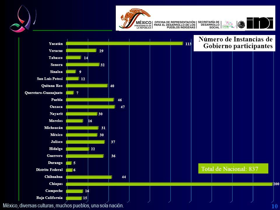 México, diversas culturas, muchos pueblos, una sola nación.