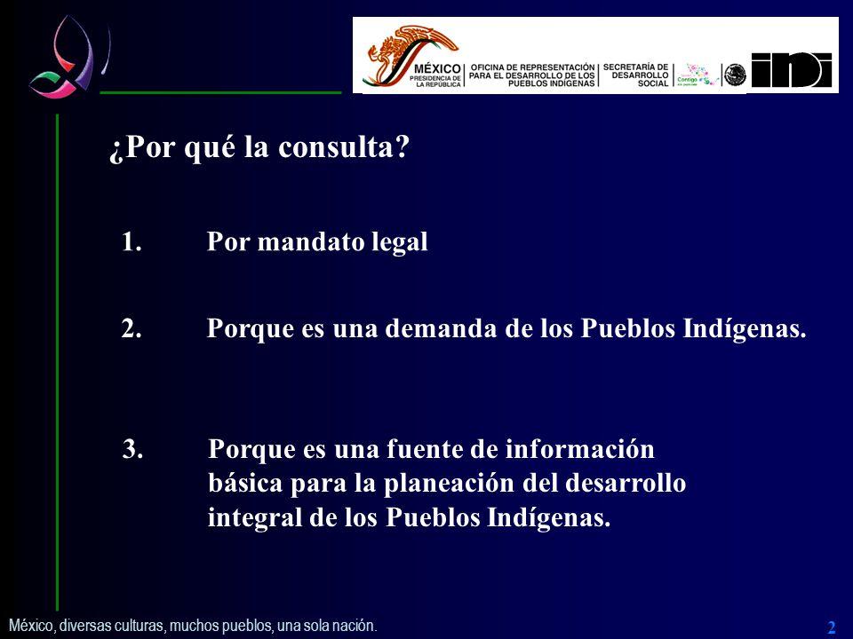 México, diversas culturas, muchos pueblos, una sola nación. 3 Procesos y participantes