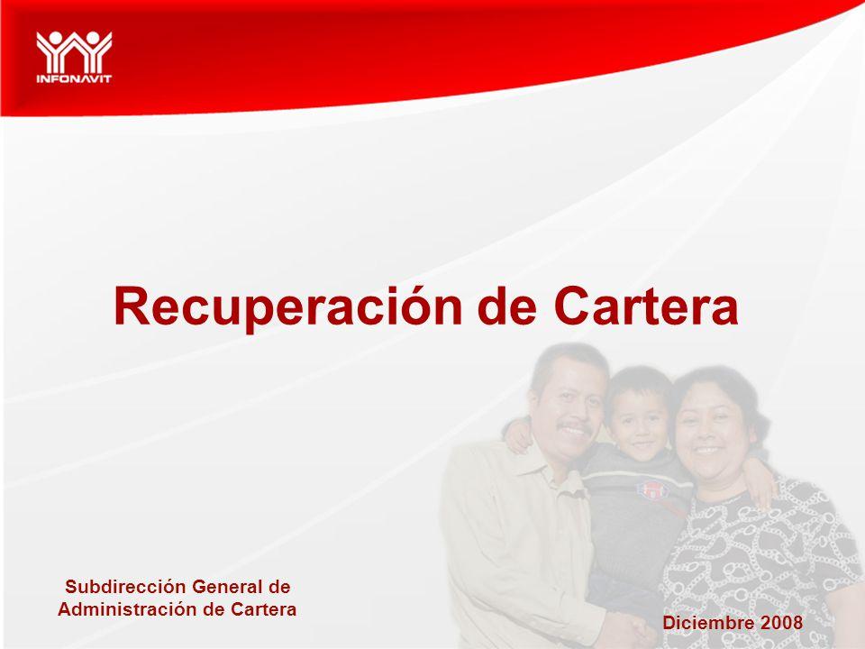 Diciembre 2008 Recuperación de Cartera Subdirección General de Administración de Cartera