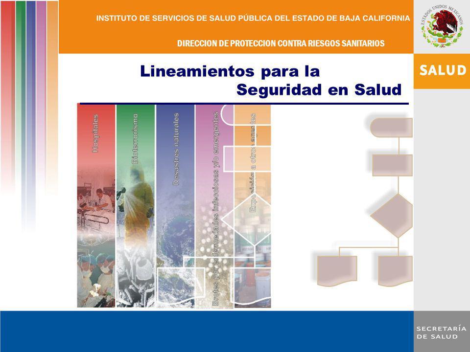 DIRECCION DE PROTECCION CONTRA RIESGOS SANITARIOS DEPARTAMENTO DE EVIDENCIA Y MANEJO DE RIESGOS Febrero 2011 DIRECCION DE PROTECCION CONTRA RIESGOS SA