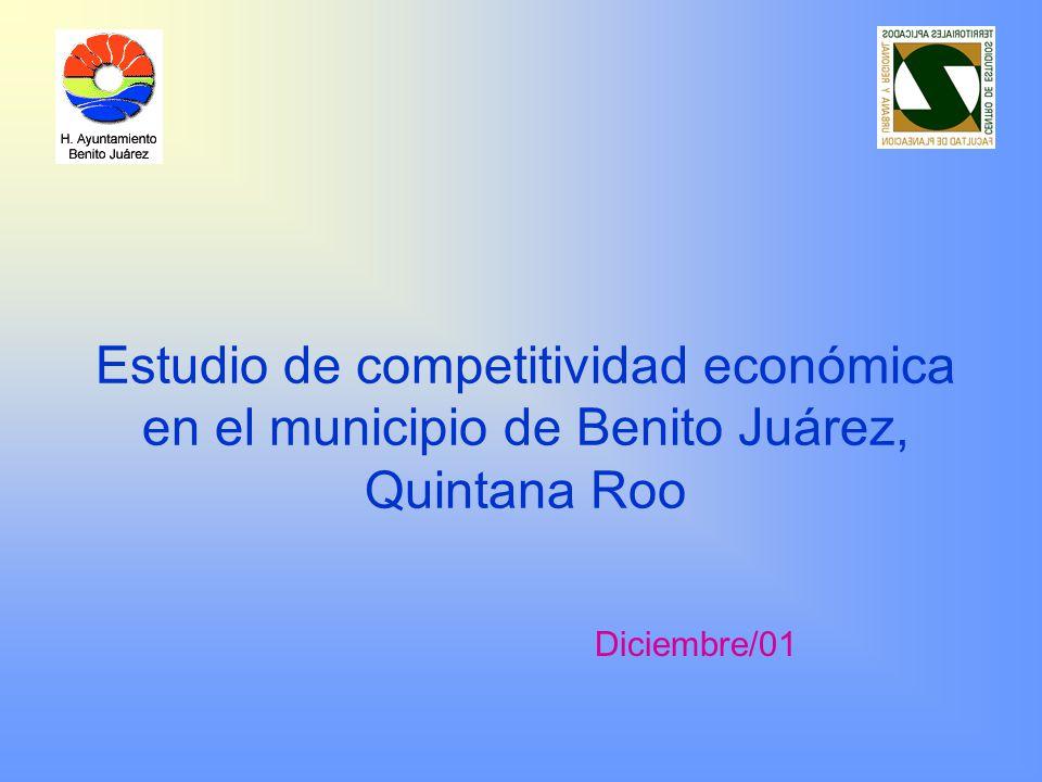 Estudio de competitividad económica en el municipio de Benito Juárez, Quintana Roo Diciembre/01