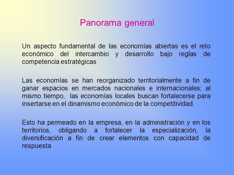 Panorama general Un aspecto fundamental de las economías abiertas es el reto económico del intercambio y desarrollo bajo reglas de competencia estraté