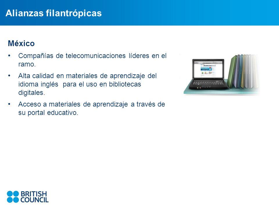 Alianzas filantrópicas México Compañías de telecomunicaciones líderes en el ramo.