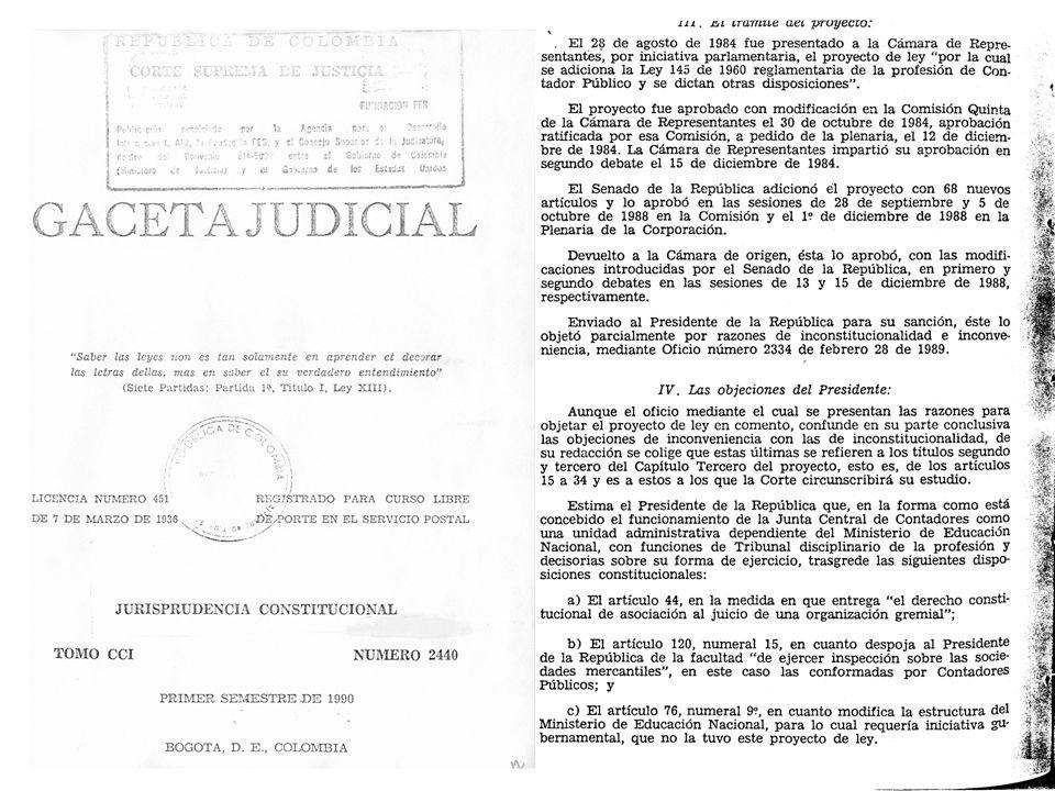 9. Junta Central de Contadores Instituida para ejercer la función disciplinaria, ha carecido de recursos, en forma tal que ha funcionado con base en e