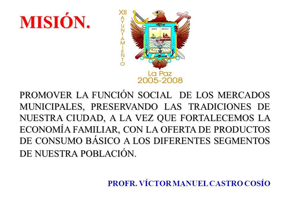 PLANTILLA DE PERSONAL EN LOS MERCADOS MUNICIPALES MERCADO MUNICIPAL GRAL.