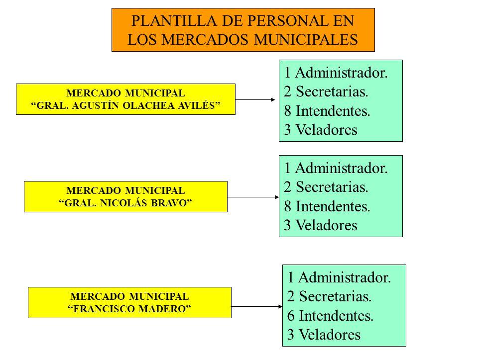 MOVIMIENTO DE PERSONAL EN LOS MERCADOS MUNICIPALES PERSONAL DE BASE: 29 TRABAJADORES PERSONAL DE LISTA DE RAYA: 9 TRABAJADORES PERSONAL COMPENSADO: 1 TRABAJADOR PERSONAL DE CONFIANZA: 1 TRABAJADOR MOVIMIENTOS : 1 Pensión humanitaria.