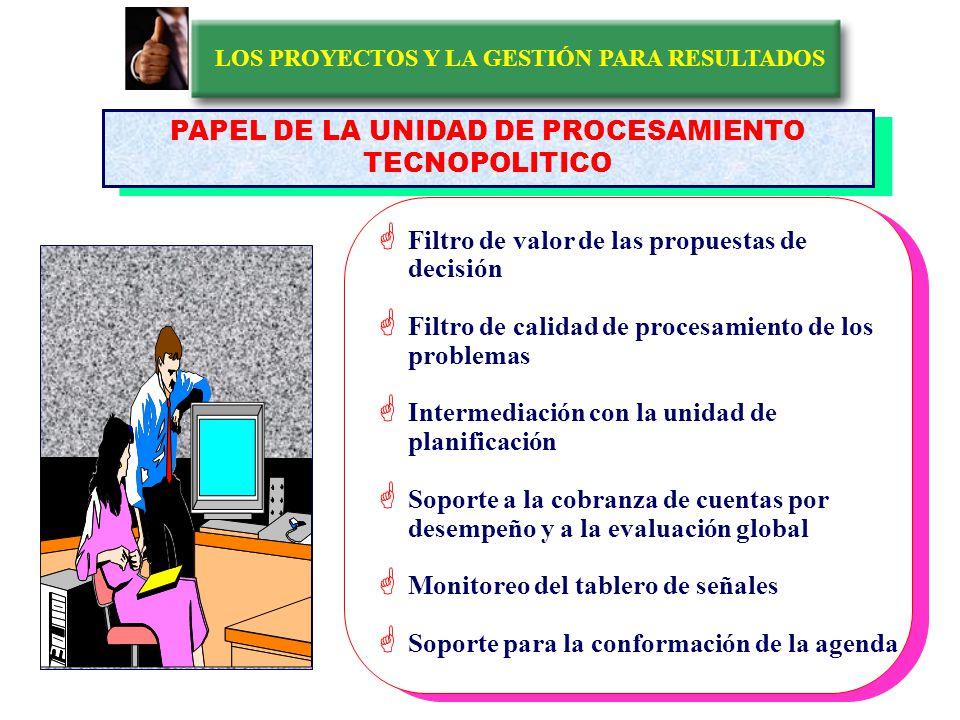 LOS PROYECTOS Y LA GESTIÓN PARA RESULTADOS EL SISTEMA ESPECIAL DE ATENCIÓN A LA COMUNIDAD ¿ COMO FUNCIONA.