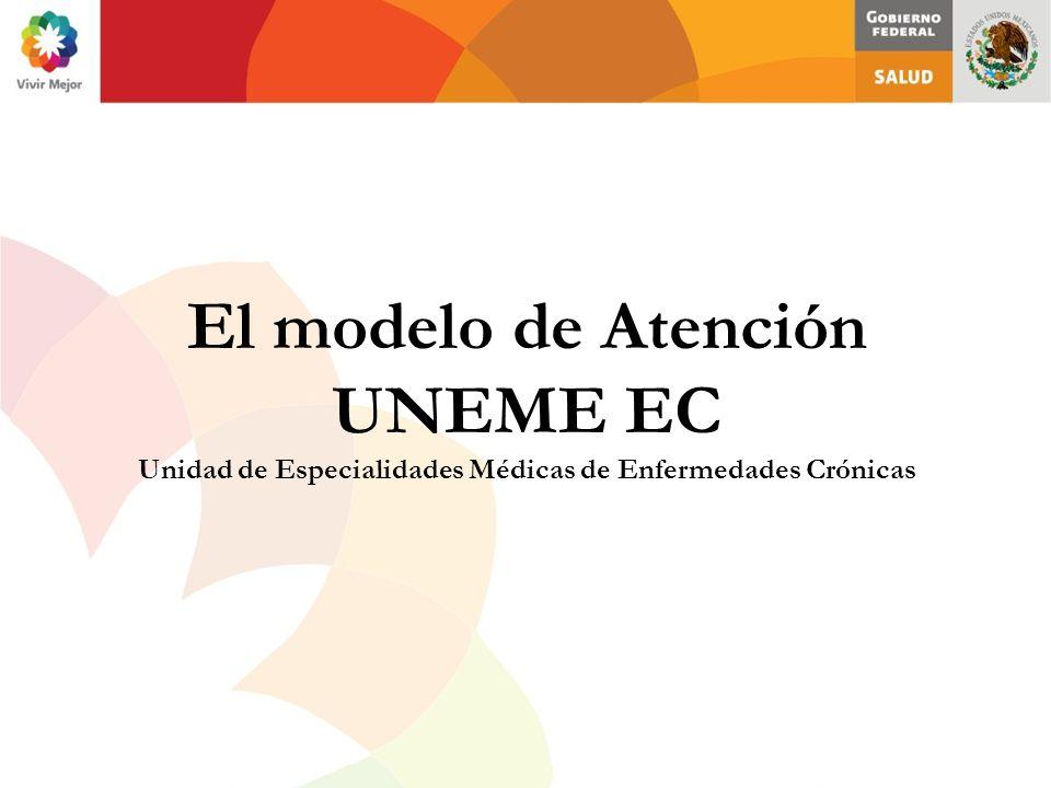 El modelo de Atención UNEME EC Unidad de Especialidades Médicas de Enfermedades Crónicas