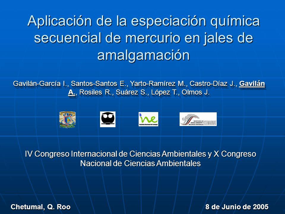 Aplicación de la especiación química secuencial de mercurio en jales de amalgamación Chetumal, Q.