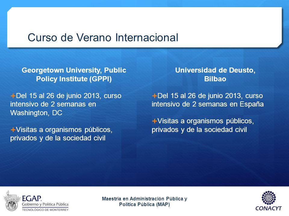 Curso de Verano Internacional Georgetown University, Public Policy Institute (GPPI) Del 15 al 26 de junio 2013, curso intensivo de 2 semanas en Washin