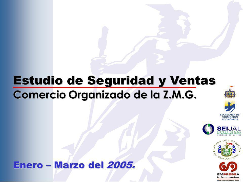 Estudio de Seguridad y Ventas Comercio Organizado de la Z.M.G. Enero – Marzo del 2005.