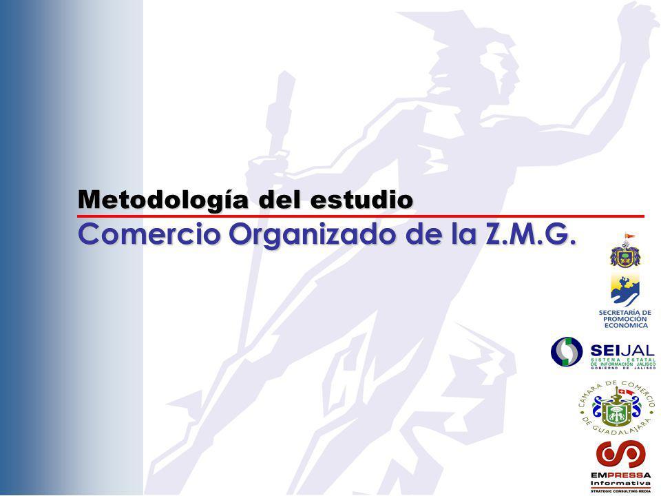 Metodología del estudio Comercio Organizado de la Z.M.G.