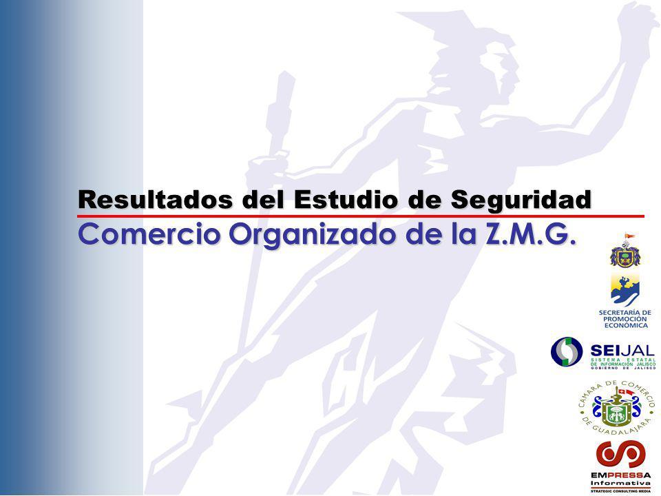 Resultados del Estudio de Seguridad Comercio Organizado de la Z.M.G.