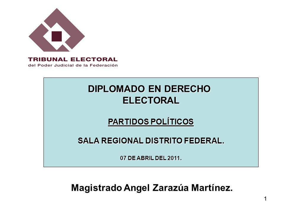 12 RÉGIMEN JURÍDICO DE LOS PARTIDOS POLÍTICOS EN MÉXICO.