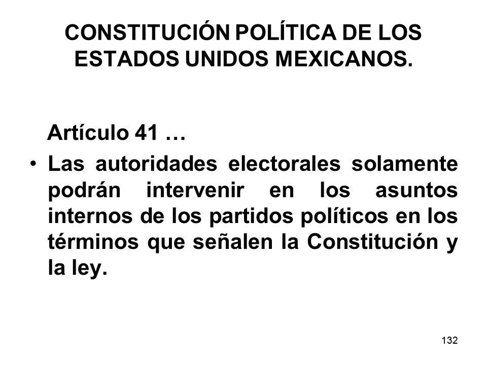 132 CONSTITUCIÓN POLÍTICA DE LOS ESTADOS UNIDOS MEXICANOS.