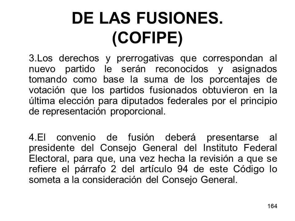164 DE LAS FUSIONES.