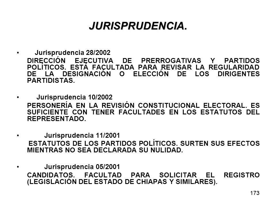 173 JURISPRUDENCIA.