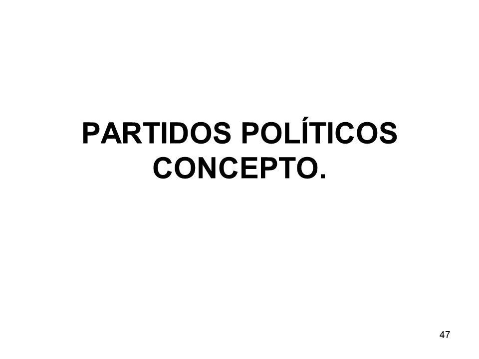 47 PARTIDOS POLÍTICOS CONCEPTO.