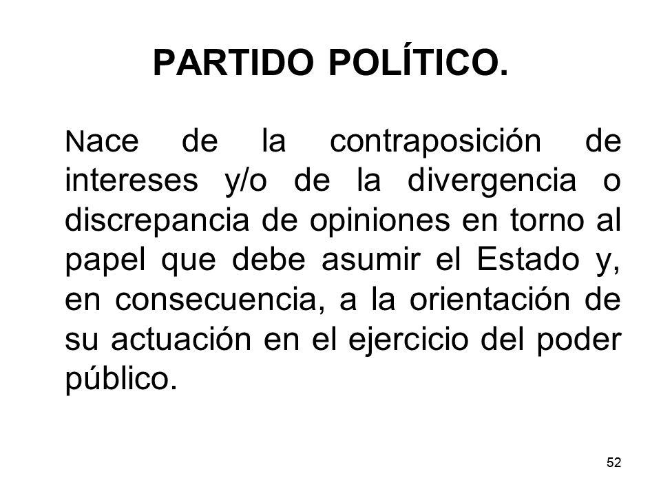 52 PARTIDO POLÍTICO.