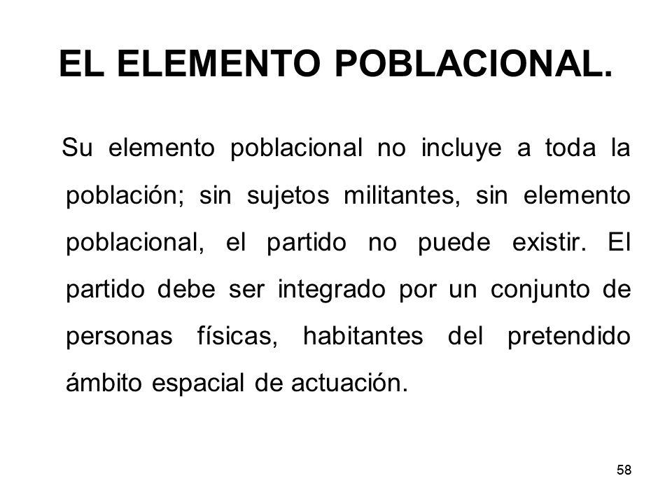 58 EL ELEMENTO POBLACIONAL.