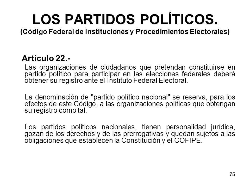 75 LOS PARTIDOS POLÍTICOS.