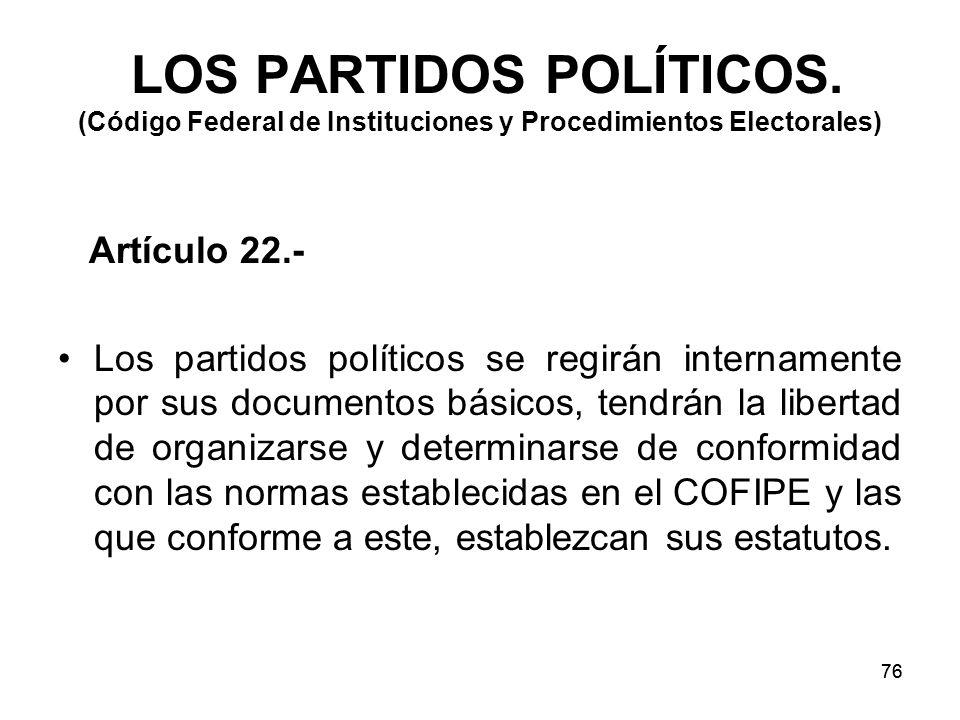 76 LOS PARTIDOS POLÍTICOS.