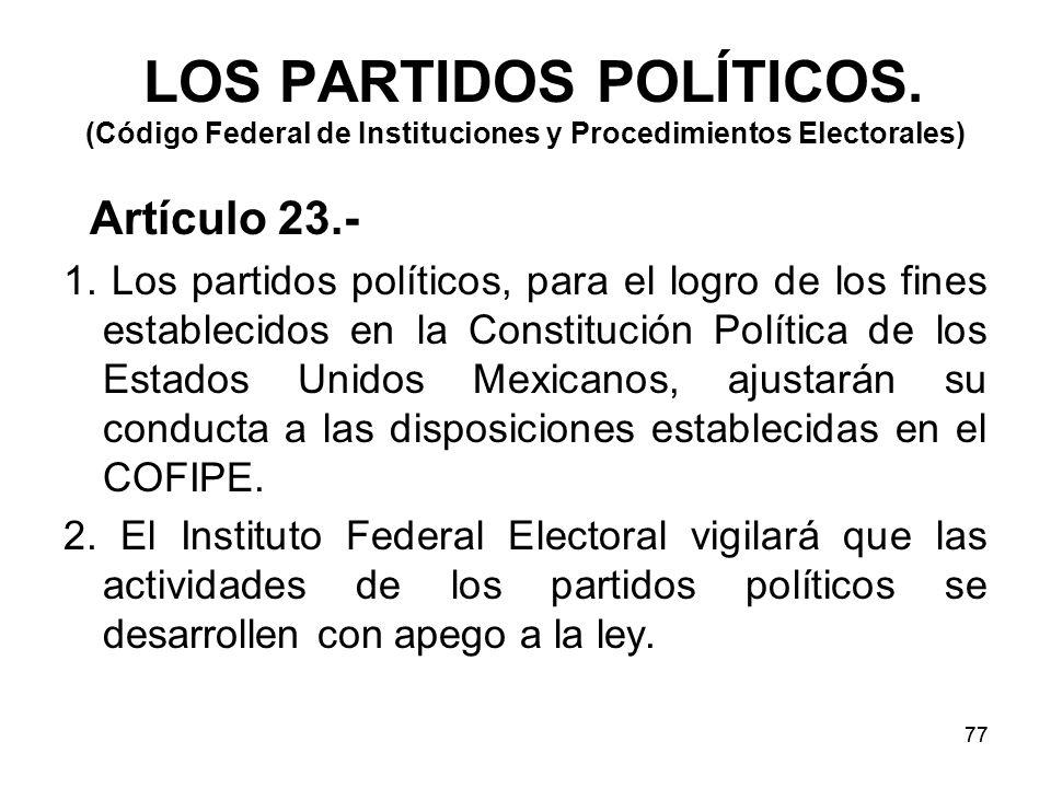 77 LOS PARTIDOS POLÍTICOS.