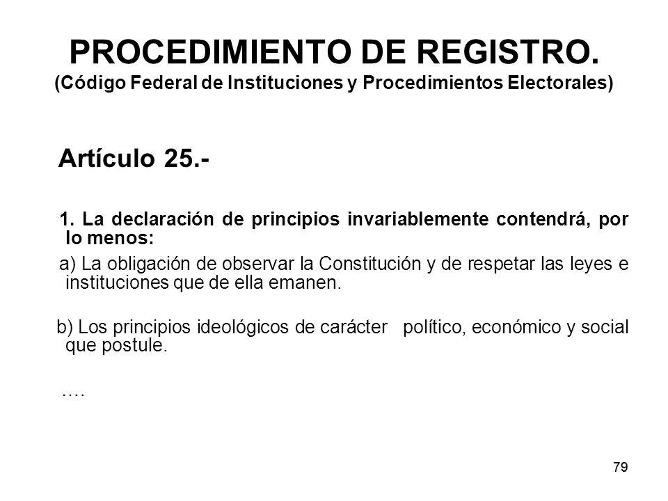 79 PROCEDIMIENTO DE REGISTRO.
