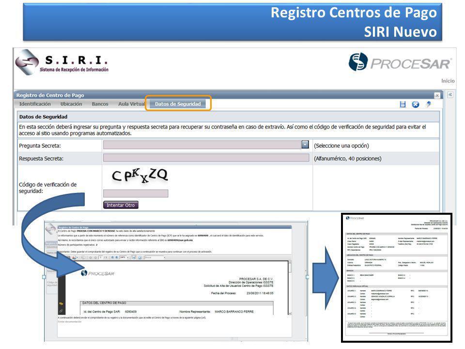 21 Registro Centros de Pago SIRI Nuevo