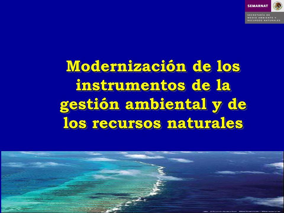 Modernización de los instrumentos de la gestión ambiental y de los recursos naturales
