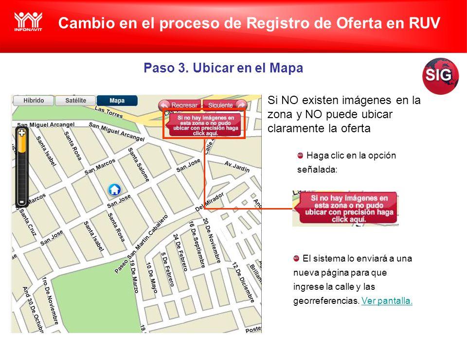 Cambio en el proceso de Registro de Oferta en RUV Paso 3.