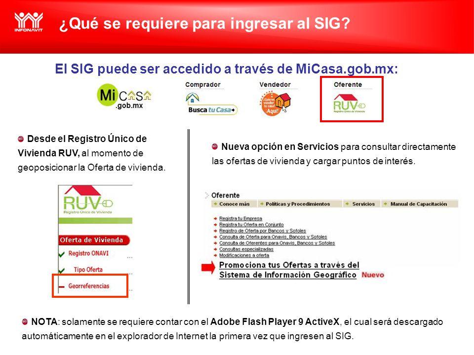 ¿Qué se requiere para ingresar al SIG.