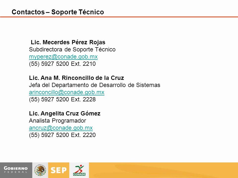 Contactos – Soporte Técnico Lic.