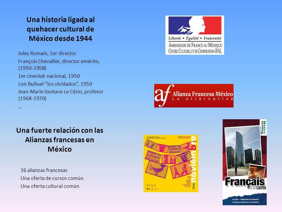 3 sitios para un mismo servicio Las oficinas centralesLa plata forma educativa La mediateca Casa de Francia