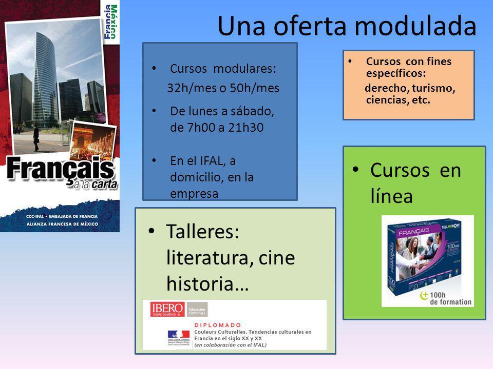 Cursos en línea Cursos con fines específicos: derecho, turismo, ciencias, etc.