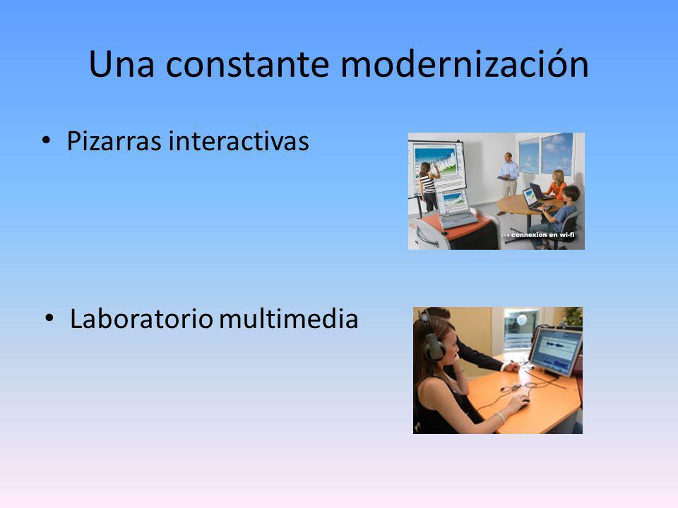 Una constante modernización Pizarras interactivas Laboratorio multimedia