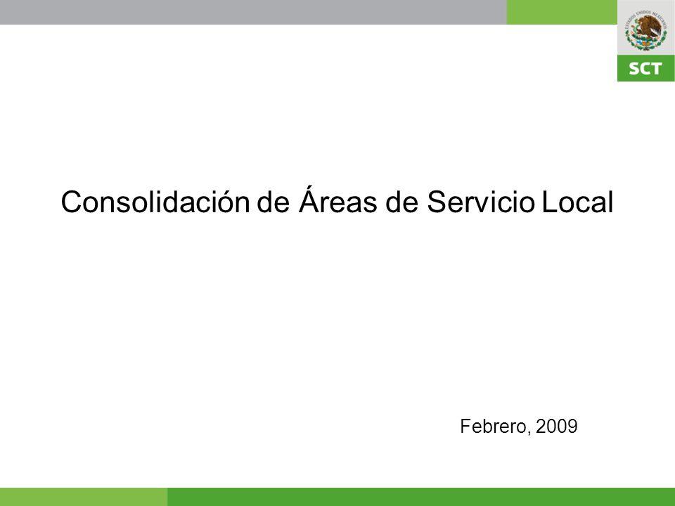 Consolidación de Áreas de Servicio Local Febrero, 2009
