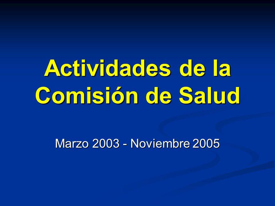 Actividades de la Comisión de Salud Marzo 2003 - Noviembre 2005