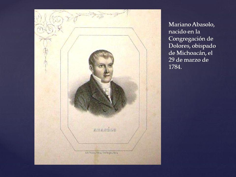Registro de la recepción del cadáver de Mariano Abasolo.