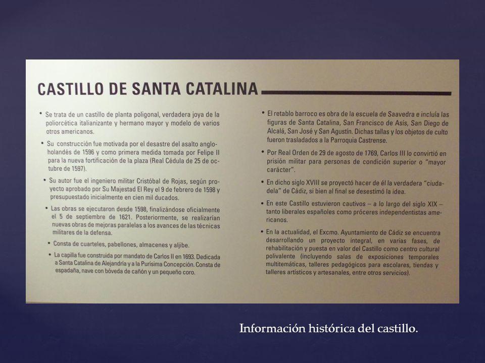 Información histórica del castillo.