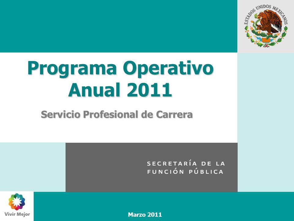 Marzo 2011 Programa Operativo Anual 2011 Servicio Profesional de Carrera