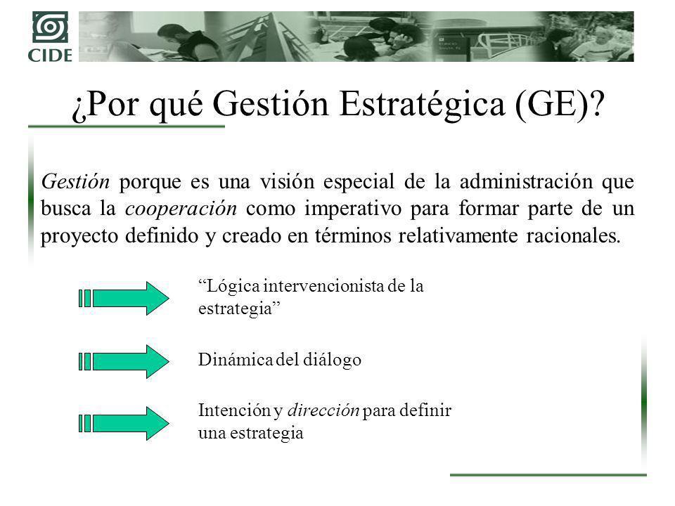 El Proceso de GE: Diagnóstico Estratégico Actores internos (Stakeholders internos) Estructura de poder en el interior de la organización.
