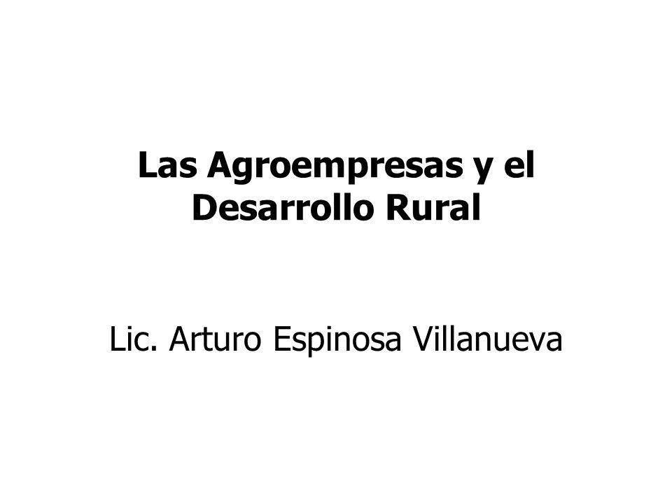 Las Agroempresas y el Desarrollo Rural Lic. Arturo Espinosa Villanueva