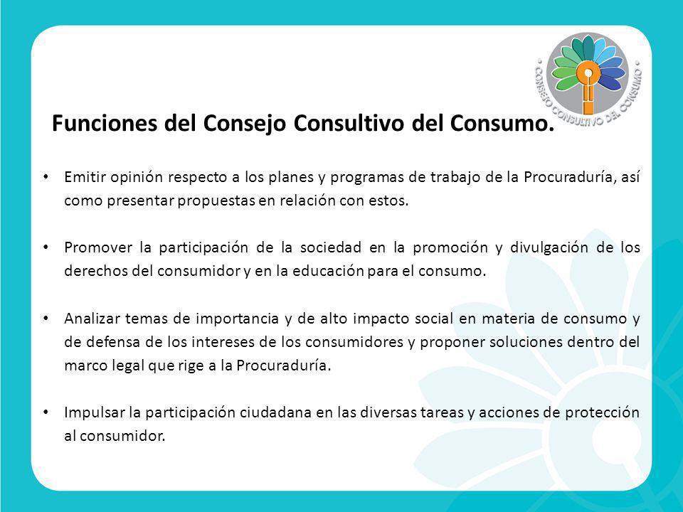 Consejeros del Consejo Consultivo del Consumo.