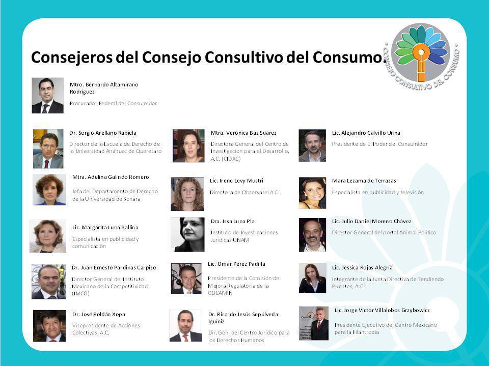 Invitados del Consejo Consultivo del Consumo.