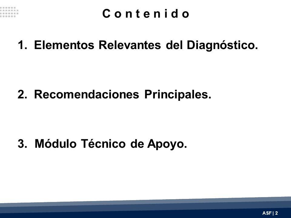 C o n t e n i d o 1.Elementos Relevantes del Diagnóstico.