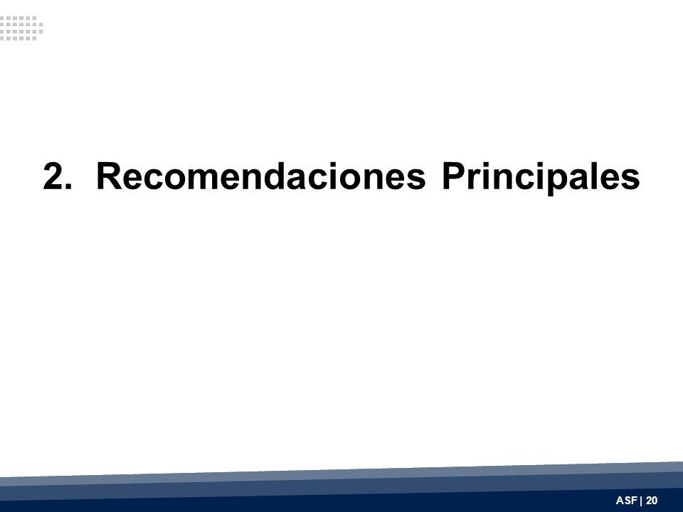 2. Recomendaciones Principales ASF | 20