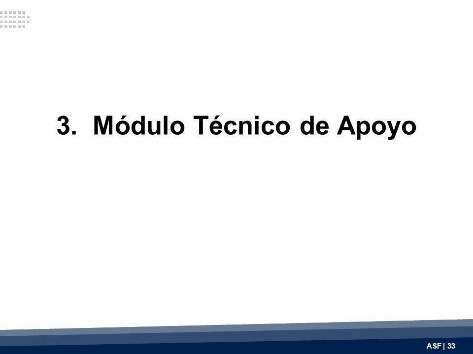 3. Módulo Técnico de Apoyo ASF | 33